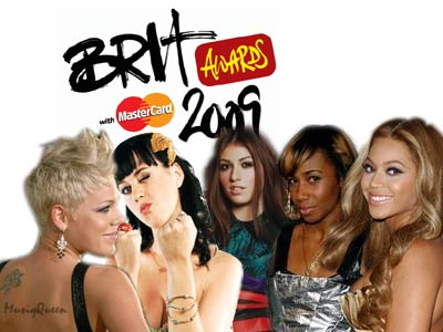 20Pink, Katy Perry, Gabriella Cilmi, Santagold, Beyonce Knowles - 2009 BRIT Awards