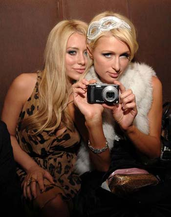 Aubrey O&#039;Day and Paris Hilton at Opening of AXE Fix Club
