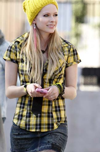 Avril Lavigne Does Photoshoot For Her Clothing Line Abbey Dawn