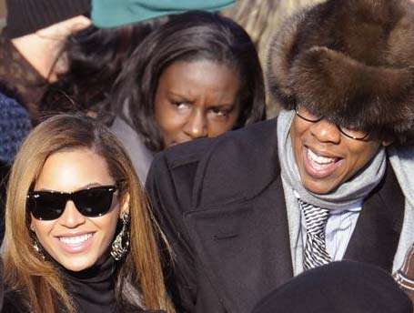 Beyonce and Jay-Z arrive at Inauguration