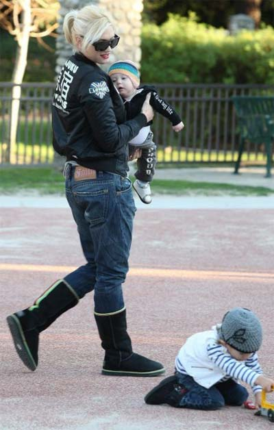 Gwen Stefani, Kingston and Zuma at LA Park