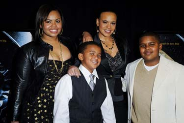 Faith Evans and Family at Notorious Premiere