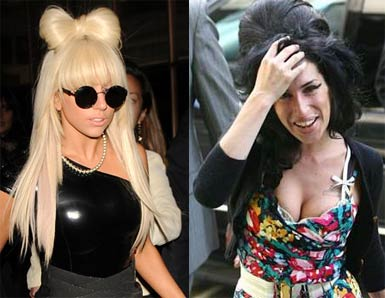 Lady Gaga and Amy Winehouse
