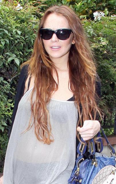 Lindsay Lohan Spotted Leaving Sam's House in Hollywood