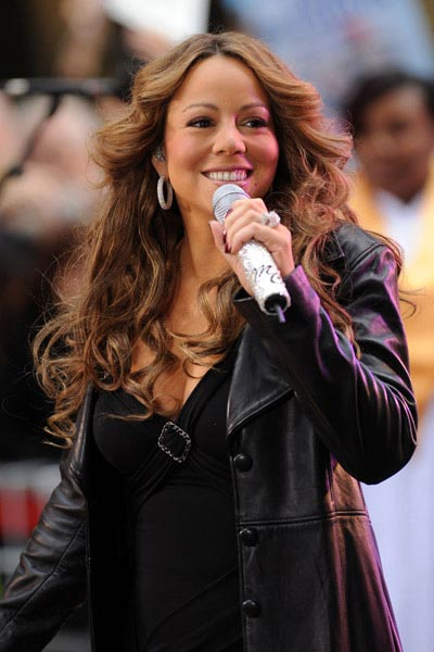 Mariah Carey performing on the Today Show