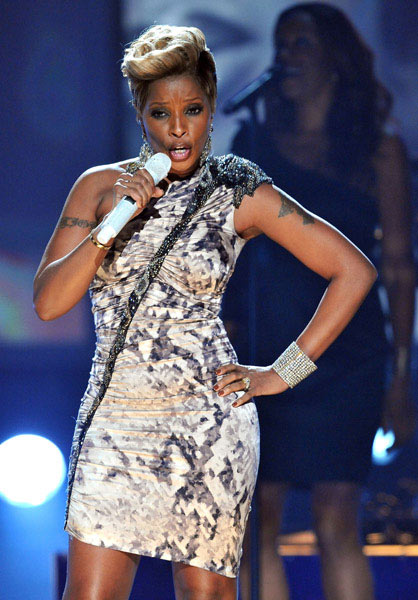 Mary J. Blige at the American Music Awards 2009