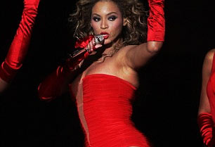 Beyonce Knowles performing at the MTV Europe Music Awards