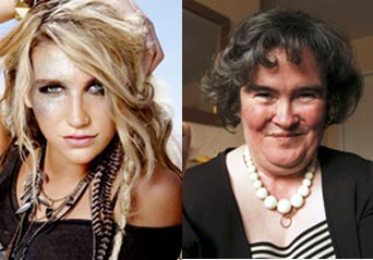 Kesha and Susan Boyle Picture