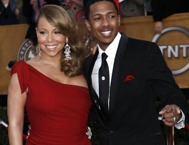 Photo of Mariah Carey and Nick Cannon at the 16th Annual Screen Actors Guild Awards