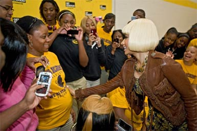 Photo - Nicki Minaj becomes principal for the day at Chicago High School