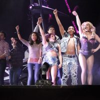 Photo of Britney Spears at Femme Fatale World Tour and Dancers