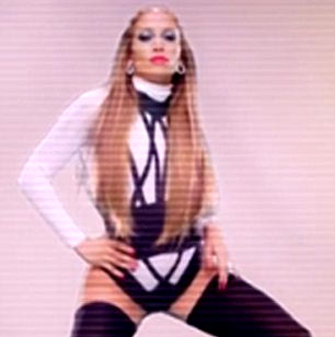 Jennifer Lopez in thigh high stockings in will.i.am music video T.H.E. - The Hardest Ever
