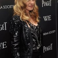 Photo of singer Madonna on the red carpet for her Film W.E. in New York