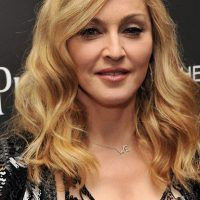 Photo of singer Madonna at  The Premiere of Her Film W.E. in New York