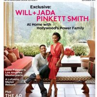 Photo of Will Smith and Jada Pinkett Smith - Architectural Digest Magazine cover