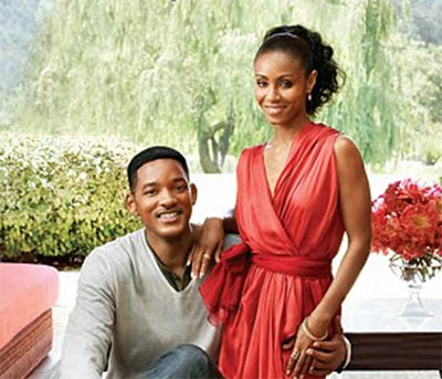 Photo of Will Smith and Jada Pinkett Smith - Architectural Digest Magazine