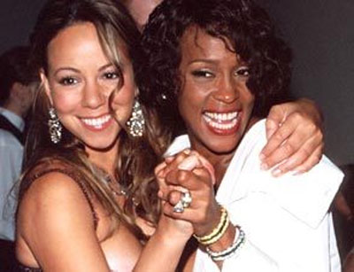 Photo of Whitney Houston and Mariah Carey