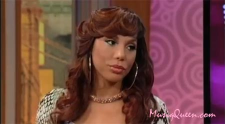 Photo of Tamar Braxton on Wendy Williams Talking about reality show