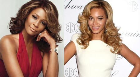 Picture of Whitney Houston and Beyonce