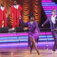 Photo of Glady Knight and dance partner Tristan MacManus on DWTS