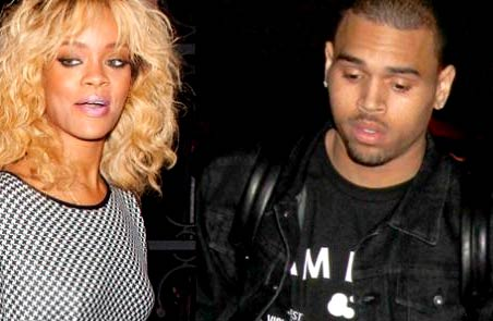 Photo – Rihanna and Chris Brown leaving recording studio