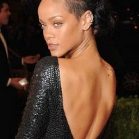 Photo of Rihanna at Met Gala beore being rushed to hospital