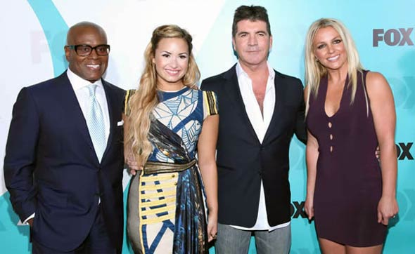 Photo - X-Factor Judges Britney Spears, Simon Cowell, Demi Lovato, LA Reid