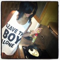 Photo - Rihanna wearing Boy London T-shirt Leave The Boy Alone
