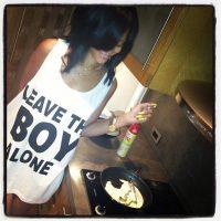 Photo - Rihanna wearing Boy London T-shirt Leave The Boy Alone