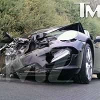 Picture - Lindsay Lohan Wrecks Porsche In Car Accident