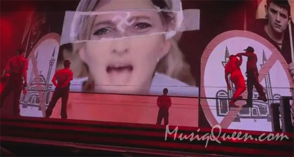 Photo – Madonna does music video Nobody Knows Me In Israrel with Swastika