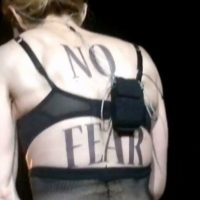 Photo - Madonna perform in Turkey MDNA Tour No Fear Tattoo