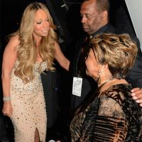 BET Awards 2012 - Mariah Carey Talks With Cissy Houston Backstage After Whitney Houston Tribute