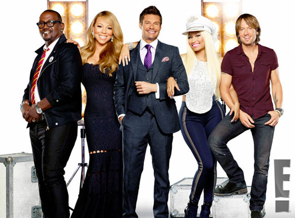 American Idol Season 12 with Mariah Carey, Nicki Minaj, Randy Jackson, Keith Urban and Host Ryan Seacrest