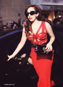 Photo of Lady Gaga in Italy In Red Dress