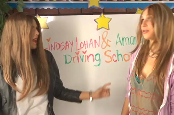 Photo - Lindsay Lohan and Amanda Bynes Drivers Ed Parody