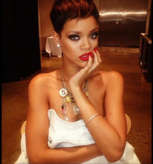 Rihanna Secret Photo Project Shows off Pixie Haircut