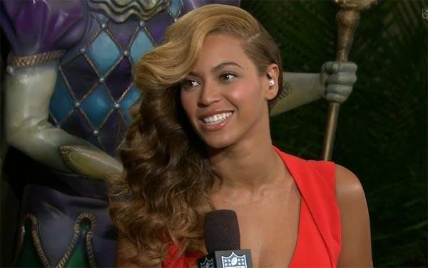 Beyonce after Super Bowl press conference
