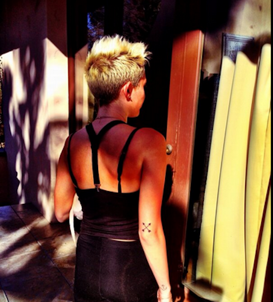 Photo of Miley Cyrus new tattoo