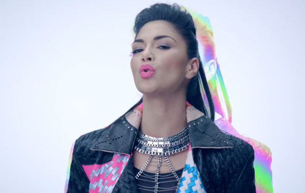 Nicole Scherzinger in the music video Boomerang
