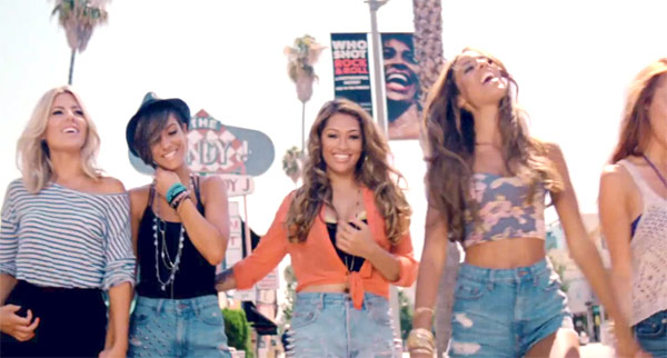 The Saturdays in the music video What About Us