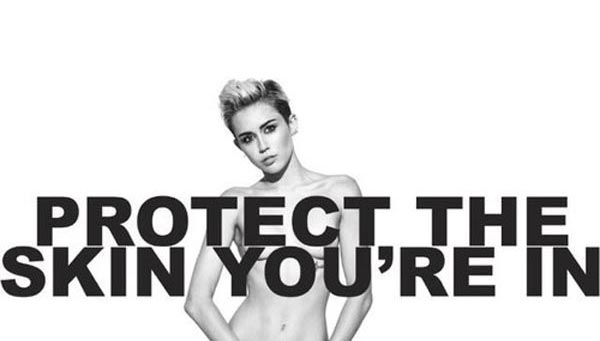 Miley Cryus Gets Naked For Protect Th Skin You're In Charity - Marc Jacobs