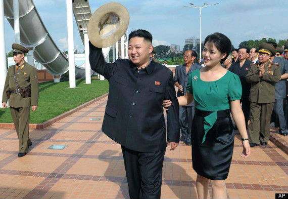 Photo of N Korea leader Kim Jong-un and wife Ri Sol-ju