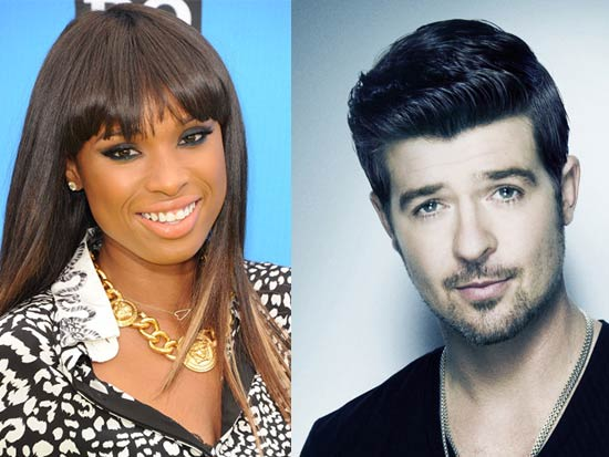 Jennifer Hudson, Robin Thicke Dick Clark's New Year's Rockin' Eve