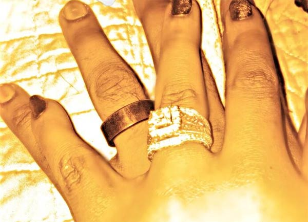 Bobbi Kristina Brown and Nick Gordon wedding rings