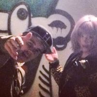 Kelly Osbourne and Justin Bieber hanging out doing art