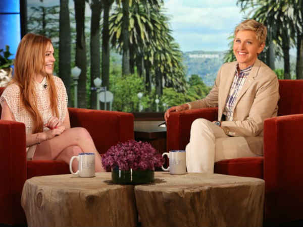 Lindsay Lohan Talks With Ellen about NYC and Paps