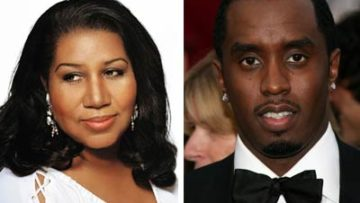 Aretha Franklin and Sean Combs