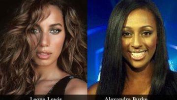 Leona Lewis and Alexandra Burke