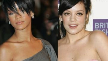 Photo of Rihanna and Lily Allen